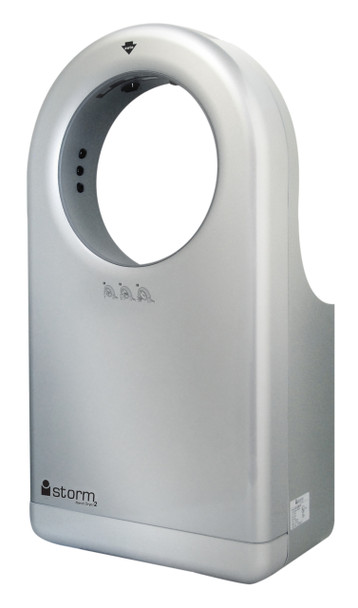 New iStorm2 Hand Dryer HD0983-08, HD0984-08, HD0985-08 Platinum from Palmer Fixture is Automatic Surface Mounted, ADA compliant, and High Speed
