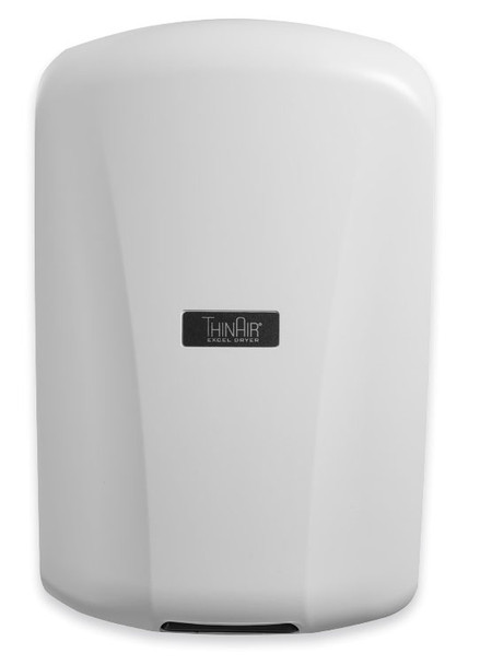 New Excel ThinAir TA-ABS white hand dryer