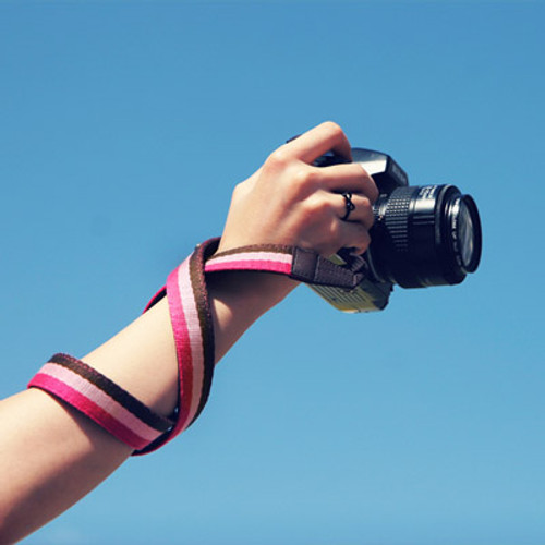 Les Alies Camera Strap for SLR (Pink Stripes)