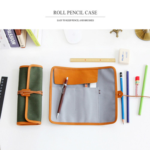 THE BASIC Canvas Roll Pencil Case