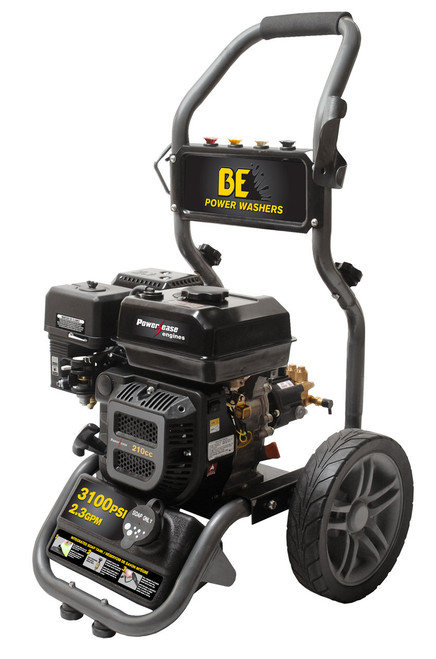 BE317 RAS 3100 PSI Pressure Washer built with an AR Pump and built-in unloader. Includes gun, hose and nozzles.