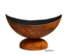 "Ohio Flame Lunar Bowl 37"" Diameter Fire Pit Patina Finish - OF37ABLU 2"