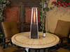 "TFPS Patio Heaters 39"" Tall Table Top Glass Tube Heater - Hammered Bronze Patio Heater - TFPS-HLDS032-GTTHG"