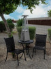 """TFPS Patio Heaters 39"""" Tall Table Top Glass Tube Heater - Stainless Steel Patio Heater - TFPS-HLDS032-GTTSS"""