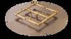 """Warming Trends Crossfire Burner System Version 2 - 120K BTU Natural Gas or LP Burner 24"""" Plate - Key Valve Kit"""
