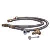 """Warming Trends Crossfire 300K BTU Burner System Natural Gas or LP 42"""" Plate - Fittings Flex Hose"""