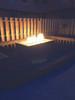 "Warming Trends Crossfire 90K BTU Linear Brass 18"" Burner System - Pan - Key Valve Kit  Lifestyle"