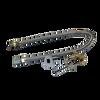 "Warming Trends Crossfire 90K BTU Linear Brass 18"" Burner System - Pan - Key Valve Kit  Flex Valve Kit"