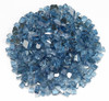 1/4 inch Pacific Blue Reflecting Premium Fire Glass 1