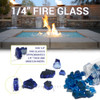 1/4 inch Champagne Classic Fire Glass 4
