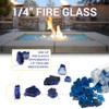 1/4 inch Cobalt Blue Classic Fire Glass 4