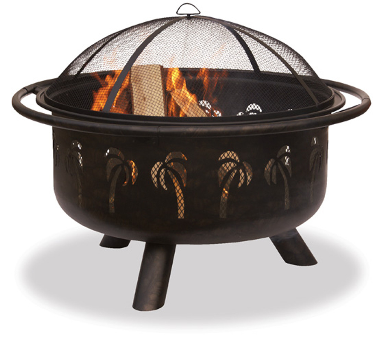 Blue Rhino Uniflame Oil Rubbed Bronze Black Outdoor Fire