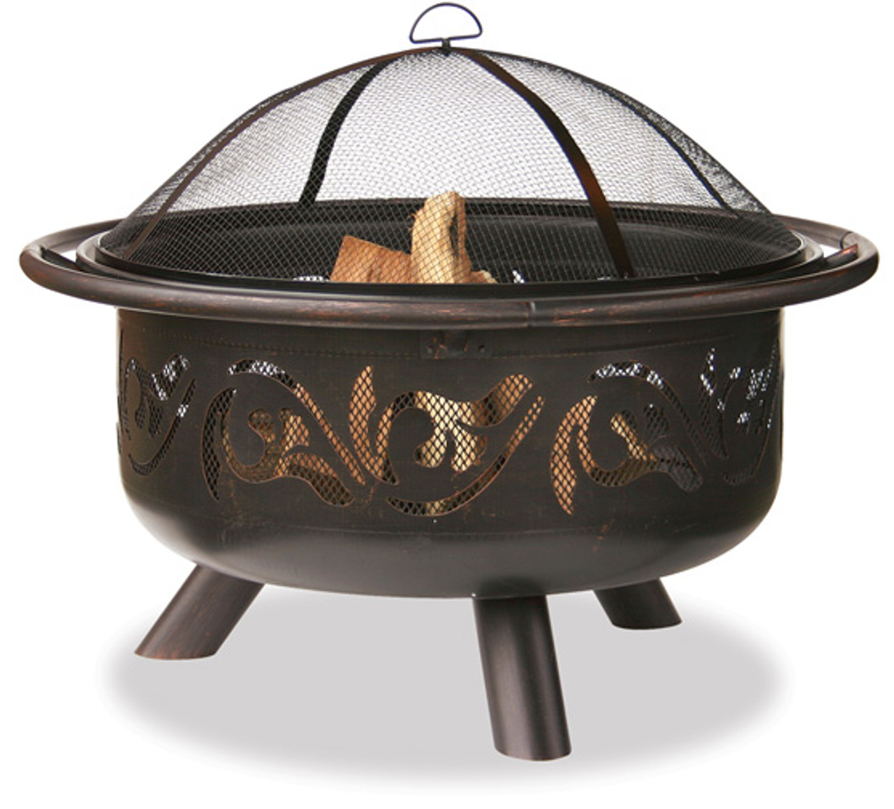 Blue Rhino Unflame Oil Rubbed Outdoor Fire Pit With Swirl