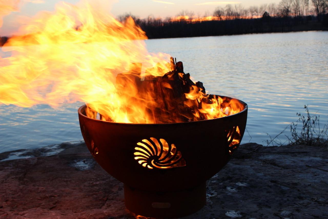 """Fire Pit Art 36"""" Beachcomber Fire Pit - Beach - The Fire ..."""