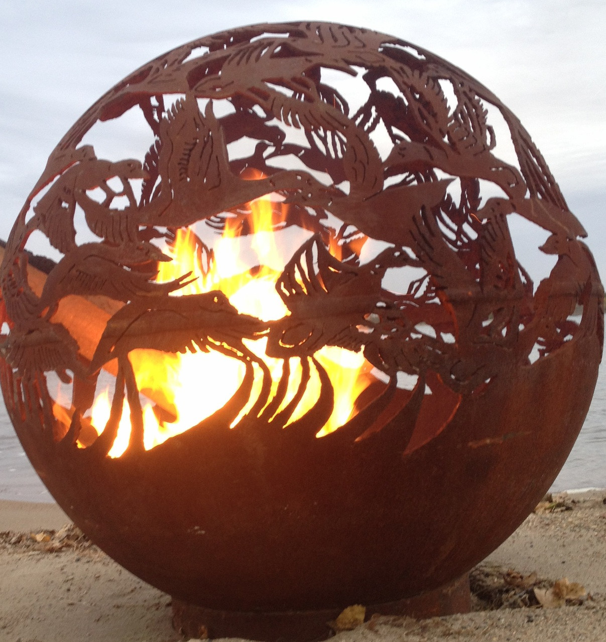 Fireball Fire Pits - Ducks - 37.5 inch Fire Globe - Fireball Fire Pits - Ducks - 37.5 Inch Fire Globe - 3715du - The