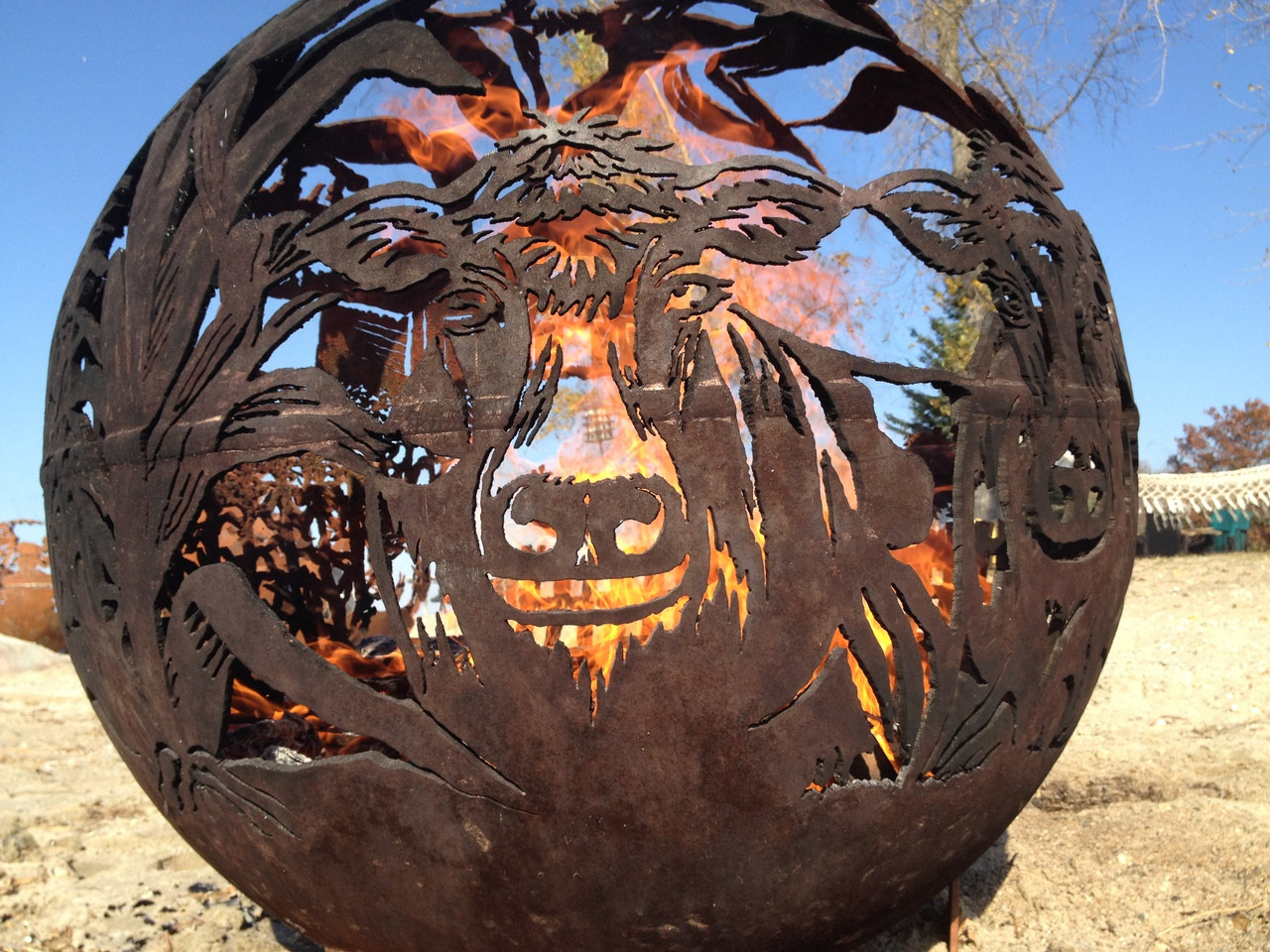 Fireball Fire Pits - Farm - 37.5 inch Fire Globe - Fireball Fire Pits - Farm - 37.5 Inch Fire Globe - 3715FA - The Fire