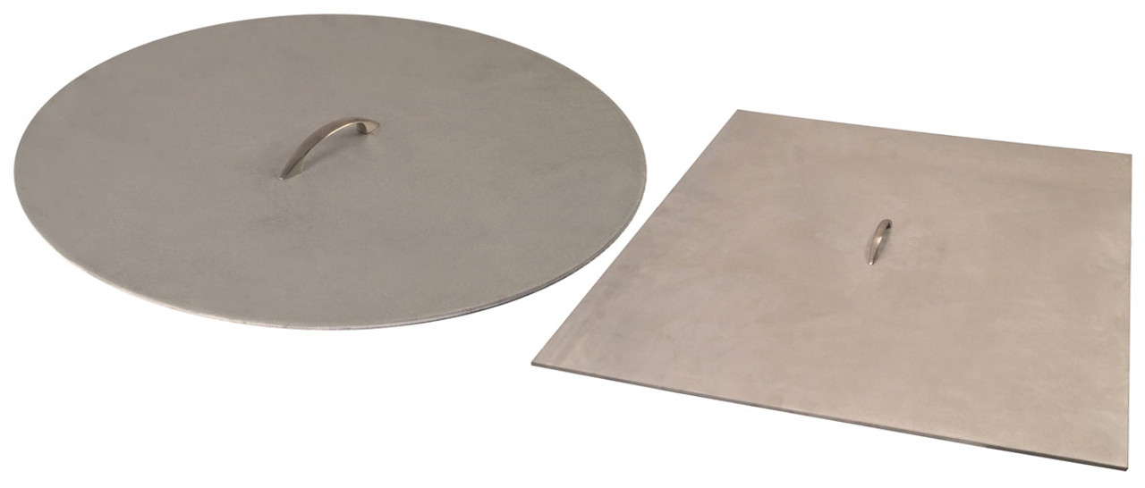 38 inch x 1/8 inch Brushed Aluminum Fire Pit Cover with Handle - For - 38 Inch X 1/8 Inch Brushed Aluminum Fire Pit Cover With Handle - For