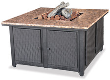 Blue Rhino Uniflame LP Propane Gas Fire Pit Table With Granite Mantel