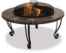 Blue Rhino UniFlame 34-Inch Slate & Marble Fire Pit with Copper Accents
