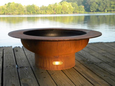 """Fire Pit Art - 40"""" Saturn - Rings In The Sky - SAT"""