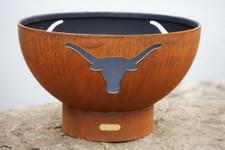"""Fire Pit Art 36"""" Long Horn - The Heart Of Texas"""