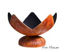 """Ohio Flame Fire Flower Artisan Bowl 30"""" Diameter Fire Pit Patina Finish - OF30ABFF"""