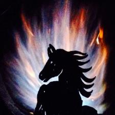 Fireball Fire Pits - Horse - 37.5 inch Fire Globe