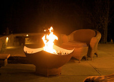 "Fire Pit Art Manta Ray 36"" Natural Gas or Propane Fire Pit"