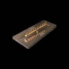 "Warming Trends Crossfire 110K BTU Linear Brass 22"" Burner System - Pan - Key Valve Kit"