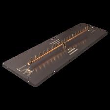 "Warming Trends Crossfire 190K BTU Linear Brass 38"" Burner System - Pan - Key Valve Kit"