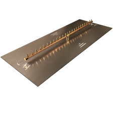 "Warming Trends Crossfire 250K BTU Linear Brass 50"" Burner System - Pan - Key Valve Kit"