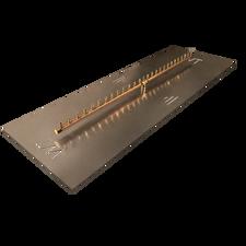 "Warming Trends Crossfire 270K BTU Linear Brass 54"" Burner System - Pan - Key Valve Kit"