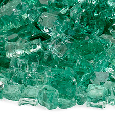 1/2 inch Evergreen Reflecting Premium Fire Glass