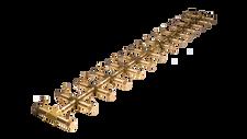 "Warming Trends Crossfire CFBT410 - 8"" x 60.5"" Tree-Style Brass Burner System"