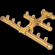 Warming Trends Crossfire 140 BTU Triangular CROSSFIRE™ Brass Burner - CFBTRI140