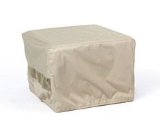 Square Fire Pit Cover - Durable Khaki - 36 inches x 36 inches x 25 inches - 437K 1