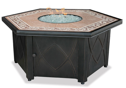 Blue Rhino Uniflame Propane Fire Pit Table Decorative