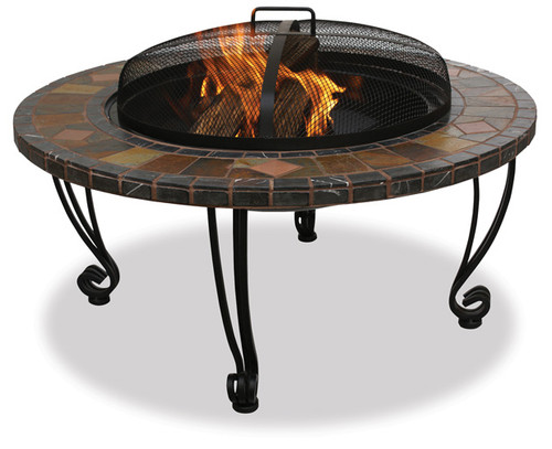 Blue Rhino Uniflame 34 Inch Slate Amp Marble Fire Pit With