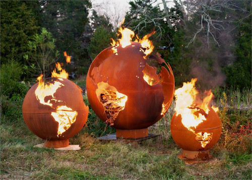 fire pit art mother earth 8 foot globe of the earth. Black Bedroom Furniture Sets. Home Design Ideas