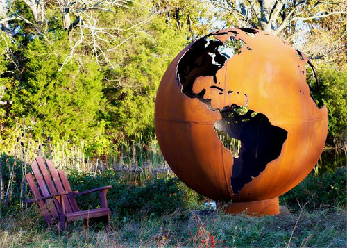 Fire Pit Art - Mother Earth - 8 Foot Globe of The Earth