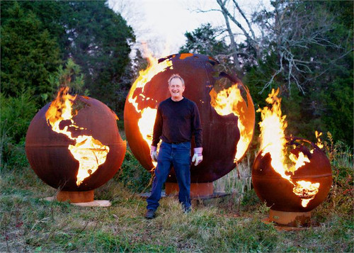 ... Fire Pit Art - Mother Earth - 8 Foot Globe of The Earth 6 - Fire Pit Art - Mother Earth - 8 Foot Globe Of The Earth - ME - The