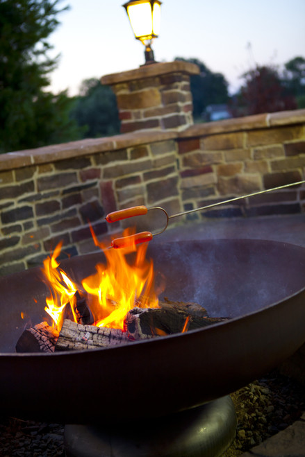 Ohio Flame Patriot 48 Quot Diameter Fire Pit Natural Steel