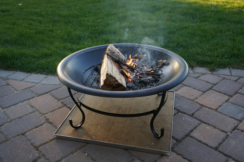 Deck Protect 36 Inch By 36 Inch Fire Pit Pad And Rack