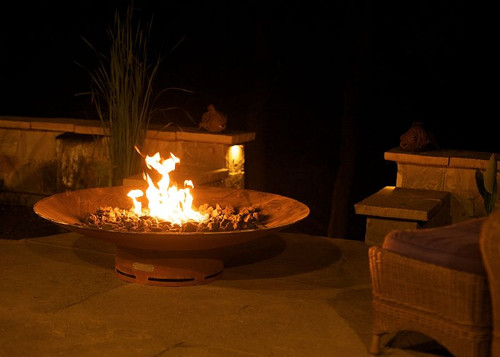 "Fire Pit Art Asia 72"" Natural Gas or Propane Fire Pit"