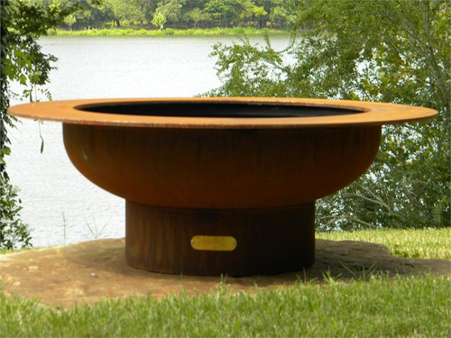 """Fire Pit Art Saturn 40"""" Natural Gas Or Propane Fire Pit"""