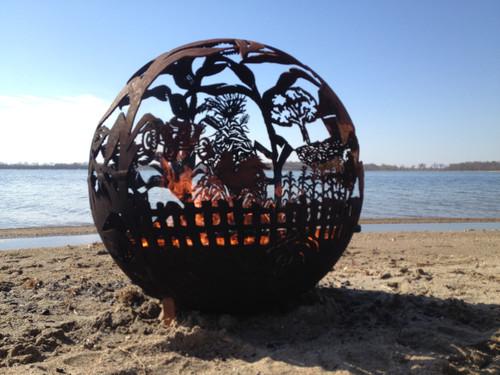 fireball fire pits farm 37 5 inch fire globe 3715fa. Black Bedroom Furniture Sets. Home Design Ideas