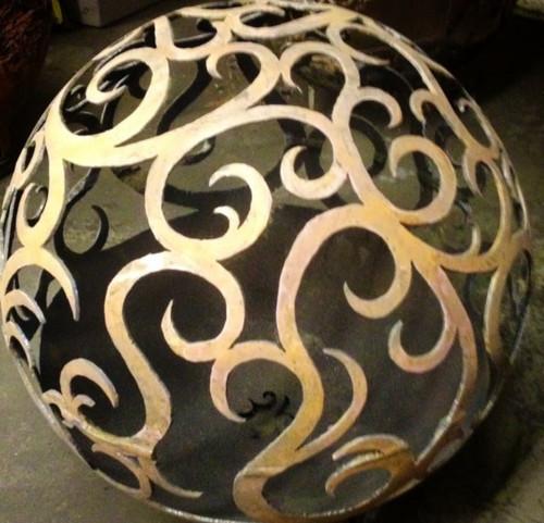 Fireball Fire Pits - Waves - 37.5 inch Fire Globe