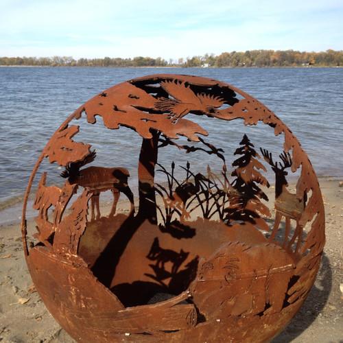 Fireball Fire Pits - Wild - 37.5 inch Fire Globe - 3715WI ...