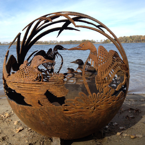 Fireball Fire Pits - Loon - 37.5 inch Fire Globe