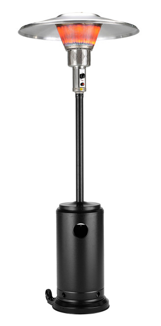 "TFPS Patio Heaters 93"" Tall Outdoor Commercial Hammered Black Patio Heater - TFPS-HLB-2400-BLK"